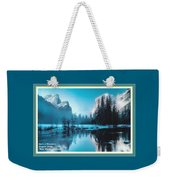 Blue Winter Fantasy. L A With Decorative Ornate Printed Frame. Weekender Tote Bag