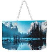 Blue Winter Fantasy. L B Weekender Tote Bag