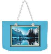 Blue Winter Fantasy. L B With Alt. Decorative Ornate Printed Frame. Weekender Tote Bag
