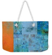 Blue With Orange 2.0 Weekender Tote Bag