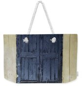 Blue Wood Door Weekender Tote Bag