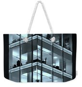 Blue Workplace Weekender Tote Bag