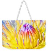 Blue Yellow Lily  Weekender Tote Bag