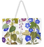 Bluebell And Morning Glory Weekender Tote Bag