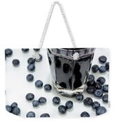 Blueberries And Blueberry Juice Weekender Tote Bag