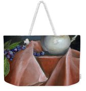 Blueberries And Cream Weekender Tote Bag