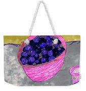 Blueberries In A Bowl Weekender Tote Bag