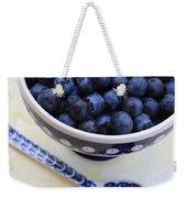 Blueberries In Polish Pottery Bowl Weekender Tote Bag
