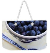Blueberries In Polish Pottery Bowl Weekender Tote Bag
