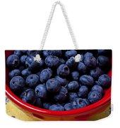 Blueberries In Red Bowl Weekender Tote Bag