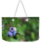 Blueberries On The Vine 4 Weekender Tote Bag