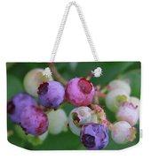 Blueberries On The Vine 5 Weekender Tote Bag