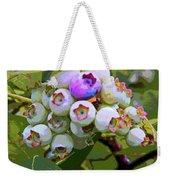 Blueberries On The Vine 7 Weekender Tote Bag