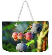 Blueberry Morning Weekender Tote Bag
