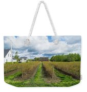 Blueberry Rows Weekender Tote Bag