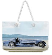 Bluebird II, 1928, World Record Land Speed Record At Pendine Sands, Wales, 178.88 Mph Weekender Tote Bag