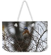 Bluebird In Briars Weekender Tote Bag