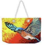 Bluebird In Flight Weekender Tote Bag