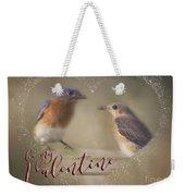 Bluebird Love Weekender Tote Bag