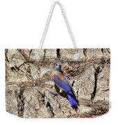 Bluebird On Canary Island Palm II Weekender Tote Bag