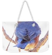 Bluebird On White Weekender Tote Bag