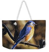 Bluebird Portrait Weekender Tote Bag
