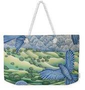 Bluebirds Of Happiness Weekender Tote Bag