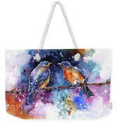 Bluebirds Weekender Tote Bag