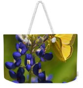Bluebonnet And Butterfly Weekender Tote Bag