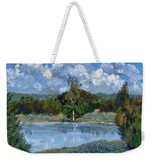Bluebonnet Pond Weekender Tote Bag