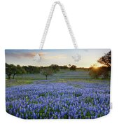 Bluebonnet Sunrise And A Windmill In Texas 1 Weekender Tote Bag