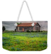 Bluebonnets And Abandoned Farm House Weekender Tote Bag