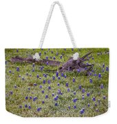 Bluebonnets And Fallen Tree - Texas Hill Country Weekender Tote Bag