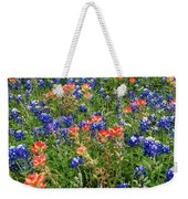 Bluebonnets And Paintbrushes 3 - Texas Weekender Tote Bag