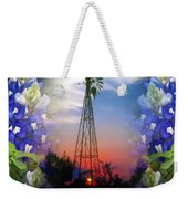 Bluebonnets And Windmill Weekender Tote Bag