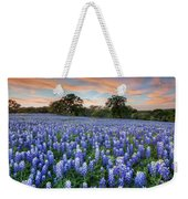 Bluebonnets On A Spring Evening 403-1 Weekender Tote Bag