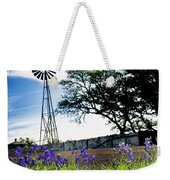 Bluebonnets With Windmill Weekender Tote Bag