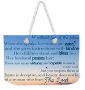 Blueprint For Life... Who Can Find A Weekender Tote Bag