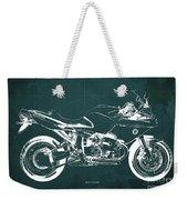 Blueprint For Men Office Decoration. R1100s Green Background Weekender Tote Bag
