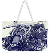 Blueprint Radial Weekender Tote Bag