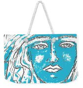 Blues Girl Weekender Tote Bag