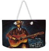 Blues Guitarist Weekender Tote Bag