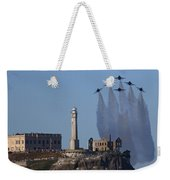 Blues Over Alcatraz Weekender Tote Bag