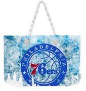 bluish backgroud for Philadelphia basket Weekender Tote Bag