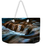 Blurred Cascades On The Autumn River Weekender Tote Bag