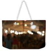 Blurred Delhi Street Scene At Night Weekender Tote Bag