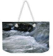 Blurred Detail Of A Mountain Stream Weekender Tote Bag