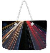 Blurred Lights Lines On Highway Weekender Tote Bag