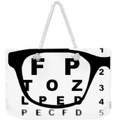 Blurry Eye Test Chart Weekender Tote Bag