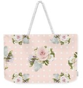 Blush Pink Floral Rose Cluster W Dot Bedding Home Decor Art Weekender Tote Bag